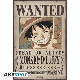 Poster One Piece - Wanted Luffy