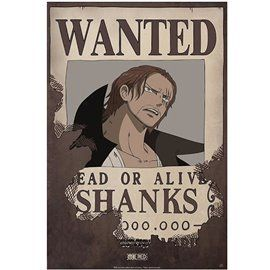 Poster One Piece - Wanted Shanks
