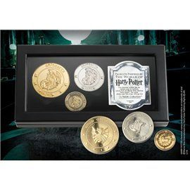 Set de Monedas el Banco Gringotts - The Noble Collection