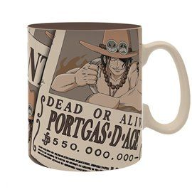 Taza Gigante Portgas D. Ace - One Piece