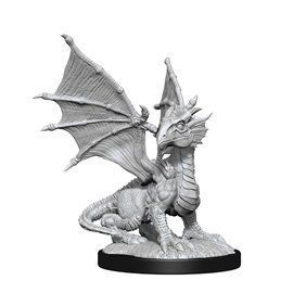 Silver Dragon Wyrmling and Halfing Child - Miniatura Dungeons and Dragons