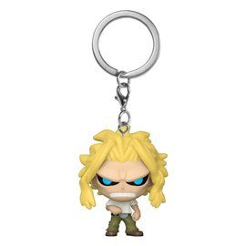 Funko Pop! - Llavero All Might (True Form) - My Hero Academia