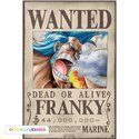 Poster One Piece - Wanted Franky
