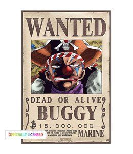 Poster One Piece - Wanted Buggy