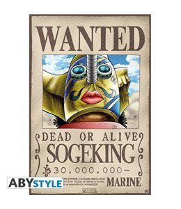 Poster One Piece - Wanted Sogeking