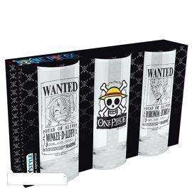 Pack 3 Vasos Cristal One Piece