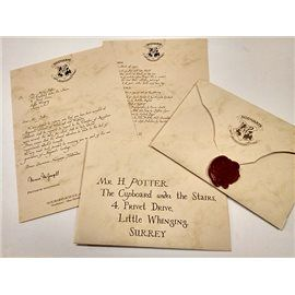 Carta Hogwarts - Harry Potter