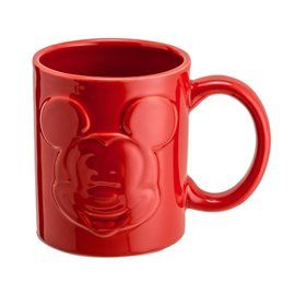 Taza Mickey Mouse Relief Roja