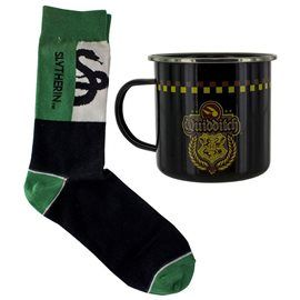 Set Taza Metálica + Calcetines Quidditch Slytherin