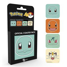 Set Posavasos Pokemon Faces