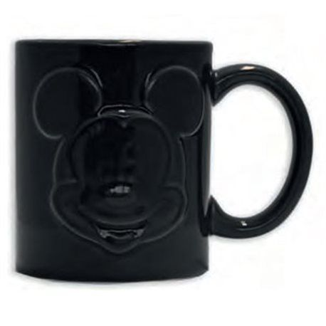 Taza Mickey Mouse Relief Negra