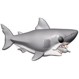 Funko Pop! - Great White Shark (with diving tank) - Tiburón Figura 15 cm