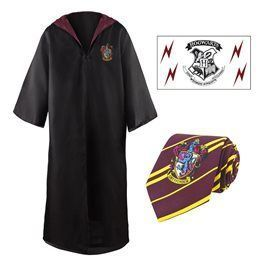 Set Tunica, Corbata y Tattoos Gryffindor Talla M - Harry Potter