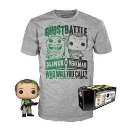 Funko Pop! & Tee - Peter Venkman - Cazafantasmas - Figura Exclusive 10cm